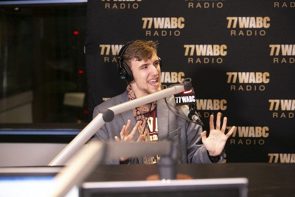 Alexander Velitchko live in the 77 WABC Radio studio