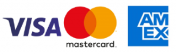 We accept Visa, MasterCard, and American Express credit cards